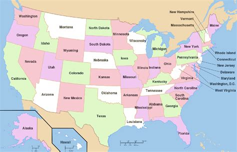 map of states of usa with name map of usa and names of states map of the united states