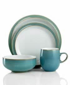 denby dinnerware azure 4 piece place setting