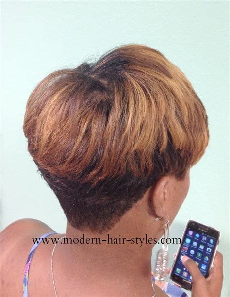 back view of layered bob of african american hair layered bob hairstyles for african american women