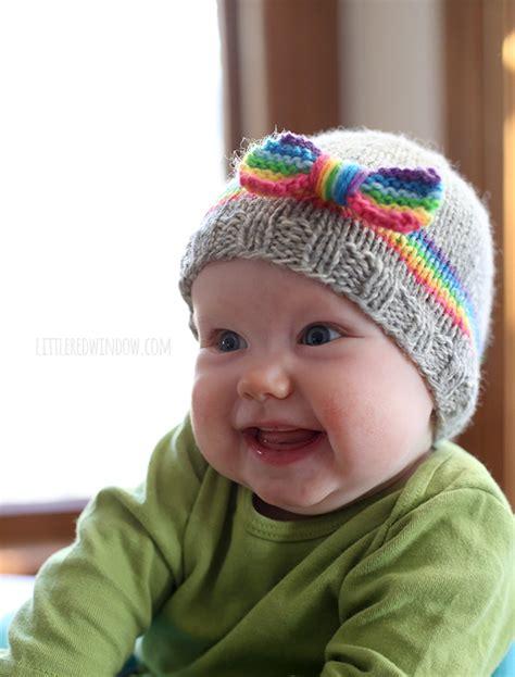 baby hat rainbow baby hat knitting pattern window