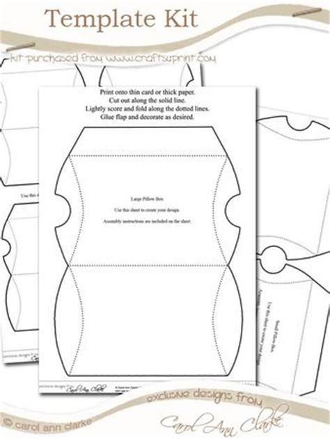 Pillow Box Template Kit 3 Sheet Kit Cup58785 359 Craftsuprint Large Pillow Box Template