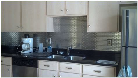 self stick kitchen backsplash stainless steel subway tile backsplash peel and stick