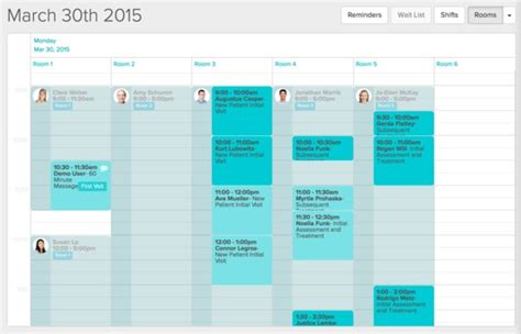 Room Booking Jane Clinic Practice Management Software Clinic Schedule Template