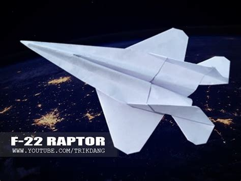 How To Make A Fighter Jet Paper Airplane - how to make an f16 jet fighter paper plane tadashi mori
