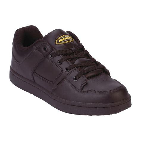 skid shoes safetrax s non skid black leather skate shoe