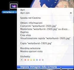 immagini scrivania mac trucchimac cambiare immagine sulla scrivania velocemente