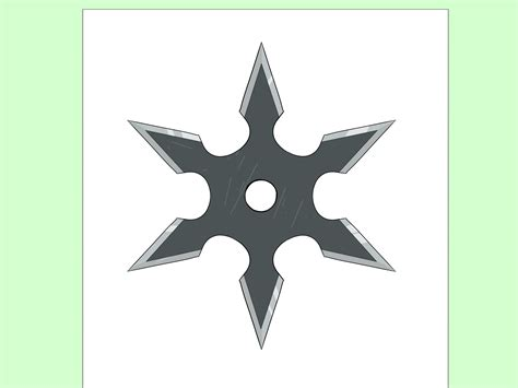 ninja star pattern how to draw a ninja star 14 steps with pictures wikihow