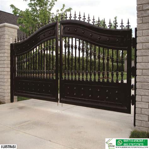 membuat pagar  gerbang  aman  maling