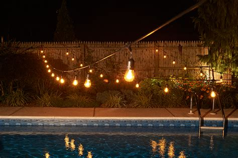 outdoor lighting strings 100 ft commercial outdoor string lights drop socket