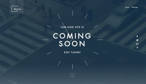 Launching Soon Template Free by Business Website Templates Wix