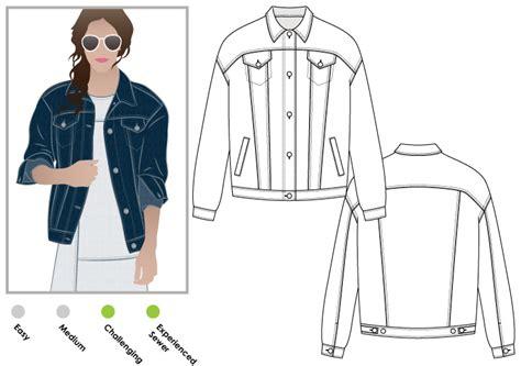 pattern jeans jacket stylearc stevie jean jacket