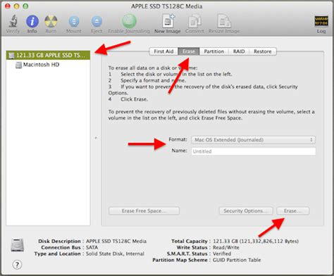 format hard drive journaled mac os extended how to perform a clean install of os x mavericks on mac