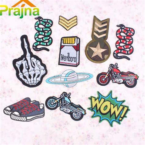 cheap biker 1pcs alien space military army patch badge iron on logo