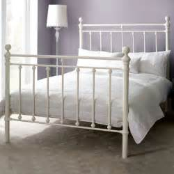Dunelm Mill Bed Frames New Ivory Bedstead White Metal Top Quality