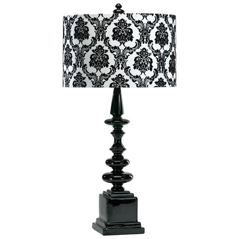 Black And White Damask L Shade by Dario Neo Noir Gloss Black White Damask Contemporary Table