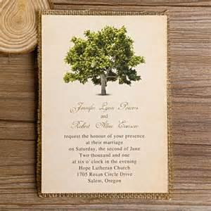 Elegant Pocket Wedding Invitations Spring Green Tree Burlap Layered Wedding Invitations Ewls018 As Low As 2 19