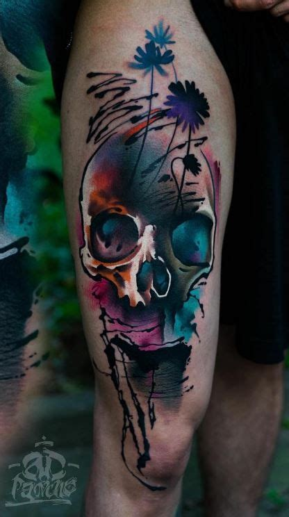 colorful skull tattoo designs best 25 pretty skull tattoos ideas on
