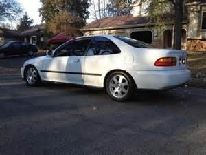 Honda Civic Ex Coupe 1995 Fs Ft 1995 Honda Civic Ex White 2dr Coupe Built Turbo Gsr