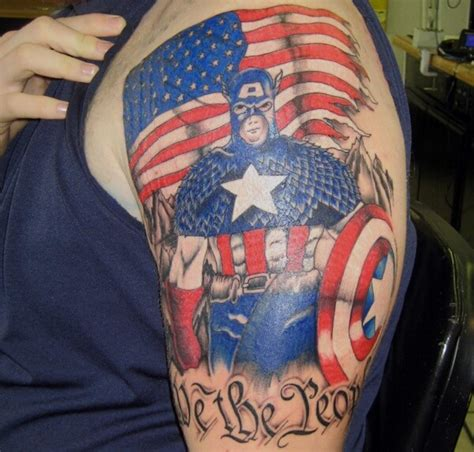 captain america shield tattoo designs the ultimate collection of captain america tattoos