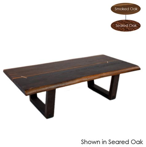 kava coffee table seared oak large eclectic coffee