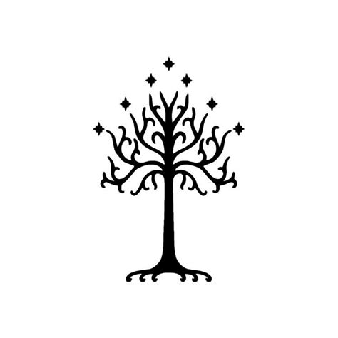 lord of the rings white tree of gondor vinyl decal