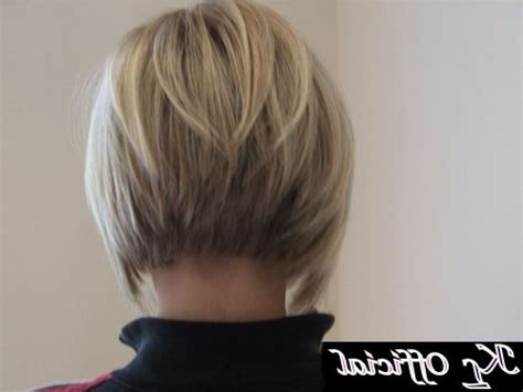 very angled bob cuts short angled bob hairstyles back view 45 with short angled