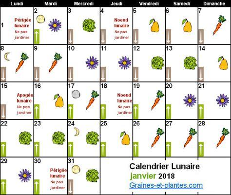 Calendrier 2018 Avec Lune Calendrier Lunaire Janvier 2018