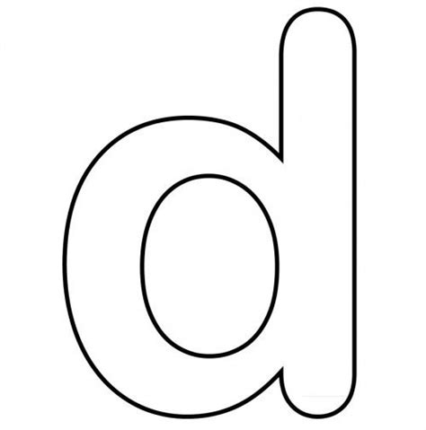 coloring pages of small letters small letter d and clear coloring page letters
