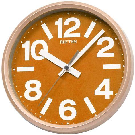 tischuhr orange rhythm 7890 3 wanduhr tischuhr quarz analog orange rund
