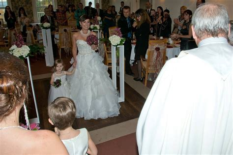 Bride walking down the aisle with young kids? Or alone?
