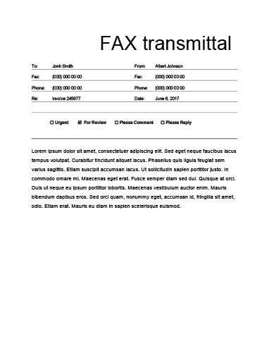 Fax A Document The