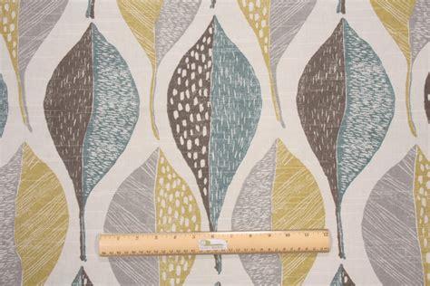 cotton drapery fabric robert allen woodblock leaf printed cotton drapery fabric