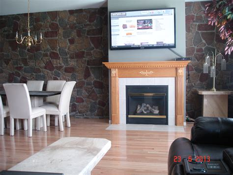 Faux Fieldstone Fireplace by Fieldstone Creative Faux Panels