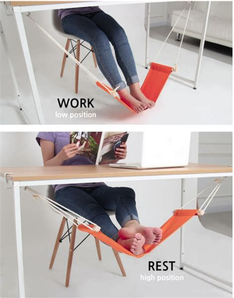 leg hammock for desk fuut desk foot rest is a hammock for your ohgizmo