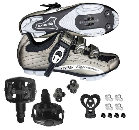 mountain bike shoes and pedals buy exustar e sm306 shimano spd mountain bike bicycle