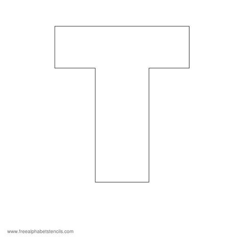 printable letter t stencils 5 best images of printable block letter t stencil block