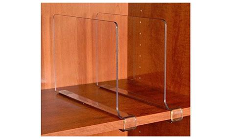 closetmate beautiful acrylic shelf dividers closet