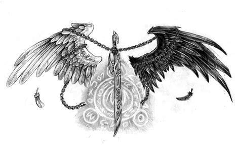 black and white angel wings tattoo designs 40 black and white designs