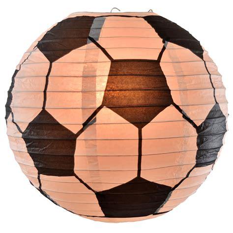 How To Make Paper Lantern Balls - soccer shaped lantern 14 quot