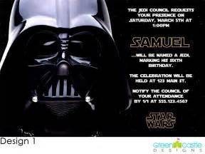20 wars invitations darth vader custom photo birthday invites ebay
