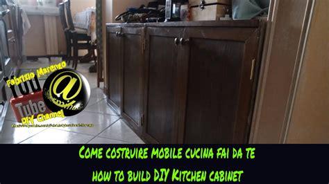 mobile legno fai da te costruzione mobile cucina in legno fai da te tutorial how