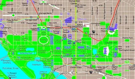 printable map of dc area printable downtown washington dc map dc area map