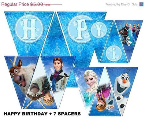 printable disney birthday banner 50 off sale instant download diy printable frozen