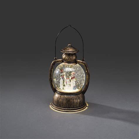 Konstsmide Indoor Water Filled Lantern With Snowmen And Konstsmide Lights