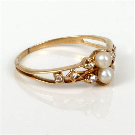 buy attractive antique pearl ring sold items