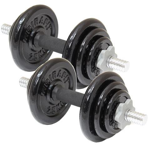 Dumbbell Set 20 Kg mirafit 20kg cast iron dumbbell set weights fitness weight lifting dumbells ebay