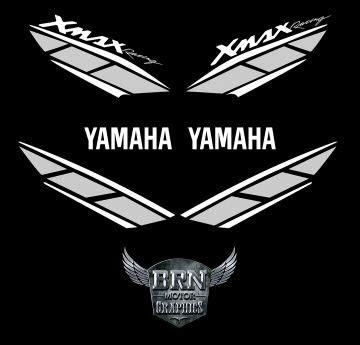 yamaha xmax  sticker seti limited edition brn motor