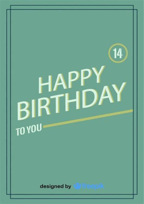 happy birthday retro design happy birthday postcard vintage design vector free download