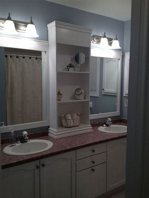 large bathroom mirror redo to double framed mirrors and 100 best bathroom ideas images on pinterest bathroom