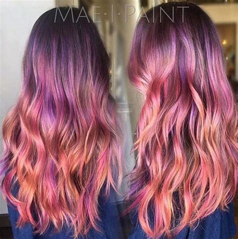 sunset hair color rainbow hair colors for holidays 2016 hairstyles 2017